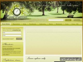 Zrzut ekranu strony ogrodywspomnien.pl