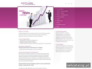 Zrzut ekranu strony www.comweb-pozycjonowanie.pl
