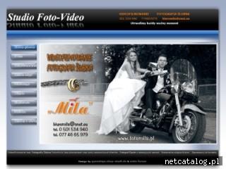 Zrzut ekranu strony www.fotomila.pl