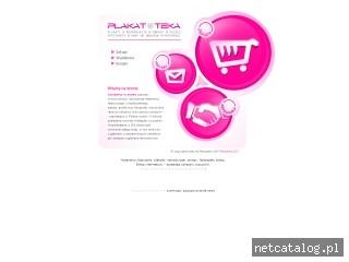 Zrzut ekranu strony www.plakatoteka.pl