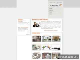 Zrzut ekranu strony www.contino.pl