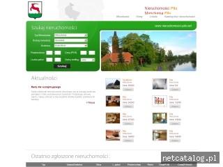 Zrzut ekranu strony www.nieruchomosci-pila.net