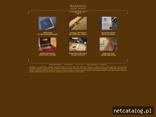Zrzut ekranu strony www.karneol.com.pl