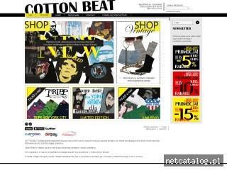Zrzut ekranu strony www.cottonbeat.com