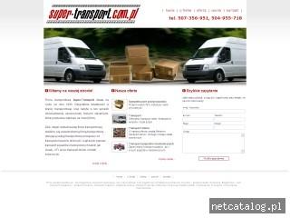 Zrzut ekranu strony www.super-transport.com.pl