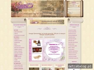 Zrzut ekranu strony www.fabrykaslubu.pl
