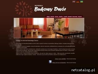 Zrzut ekranu strony www.bukowydwor.pl