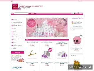 Zrzut ekranu strony www.pazurki.com.pl