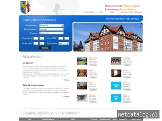 Zrzut ekranu strony www.nieruchomosci-ruda-slaska.pl