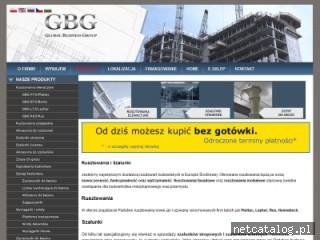 Zrzut ekranu strony www.gbgroup.com.pl