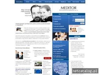 Zrzut ekranu strony www.meditor.net.pl