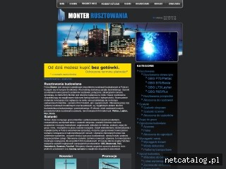 Zrzut ekranu strony www.monter-rusztowania.pl