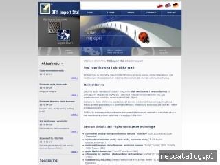 Zrzut ekranu strony www.bth.pl