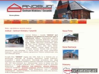 Zrzut ekranu strony www.andbud.pl