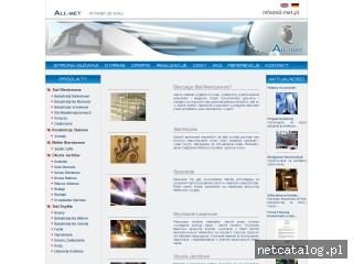 Zrzut ekranu strony www.all-met.pl
