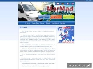 Zrzut ekranu strony www.przeprowadzki-marmad.pl