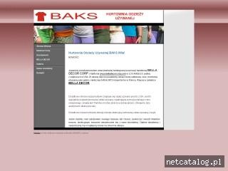 Zrzut ekranu strony www.baks.net.pl