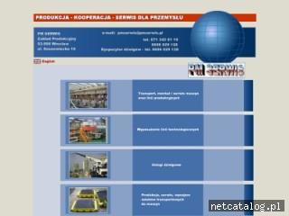 Zrzut ekranu strony www.pmserwis.pl