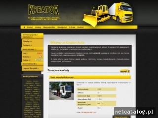 Zrzut ekranu strony www.kreatorauto.pl