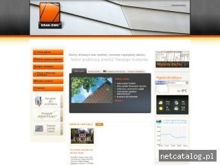 Zrzut ekranu strony www.krak-zinc.pl