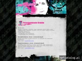 Zrzut ekranu strony www.popartstudio.com.pl