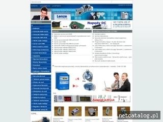 Zrzut ekranu strony www.napedy.ppp.pl