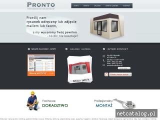 Zrzut ekranu strony www.pawilony-liczak.pl