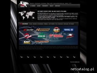 Zrzut ekranu strony www.mxpartspoland.pl