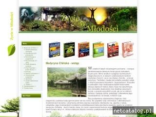 Zrzut ekranu strony www.zyciewmlodosci.pl