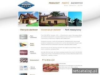 Zrzut ekranu strony www.dach-metal.com.pl
