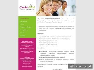 Zrzut ekranu strony www.clevermind.pl