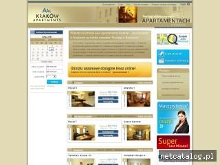 Zrzut ekranu strony www.krakow-apartamenty.biz