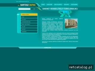 Zrzut ekranu strony www.rehabilitacja-bielsko.pl