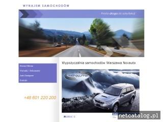 Zrzut ekranu strony www.novauto.pl
