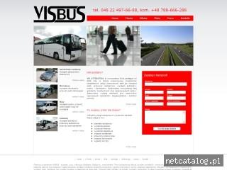 Zrzut ekranu strony www.visbus.pl