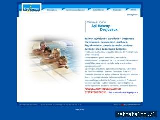 Zrzut ekranu strony www.api-baseny.pl