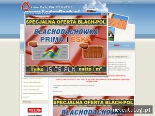 Zrzut ekranu strony www.ladnydach.pl
