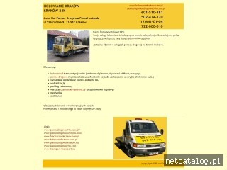 Zrzut ekranu strony www.holowaniekrakow.com.pl