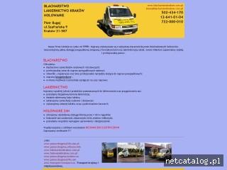 Zrzut ekranu strony www.blacharstwokrakow.com.pl