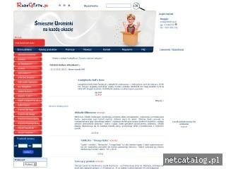 Zrzut ekranu strony www.rudegifts.pl