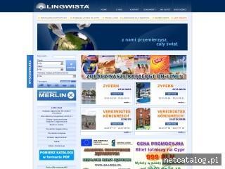 Zrzut ekranu strony www.lingwista.com.pl
