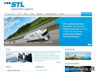 Zrzut ekranu strony www.speed-trans.pl