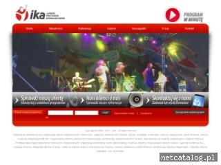 Zrzut ekranu strony www.ika.gda.pl