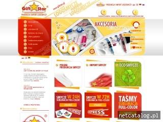 Zrzut ekranu strony www.giftstar.pl