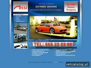 Zrzut ekranu strony www.pomoc-drogowa.wroclaw.pl