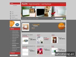 Zrzut ekranu strony www.alen.pl