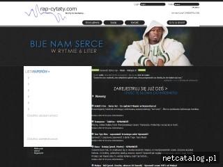 Zrzut ekranu strony rap-cytaty.com
