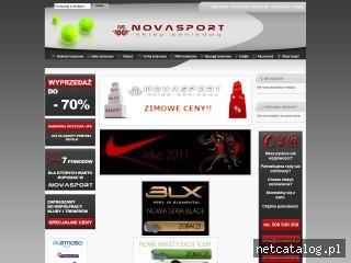 Zrzut ekranu strony www.novasport.pl