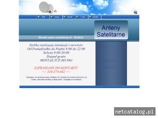 Zrzut ekranu strony www.anteny-sat.pl