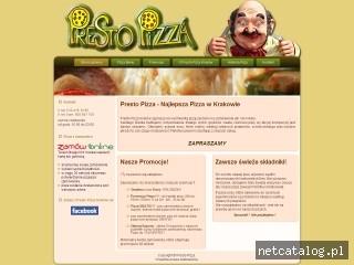 Zrzut ekranu strony www.presto-pizza.pl